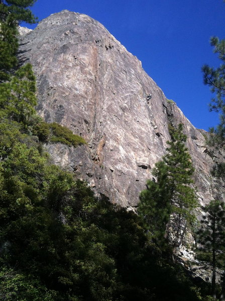 Rock Climbing Photo: derrick lindsay on shangri-la 5.10-, rediscovery d...