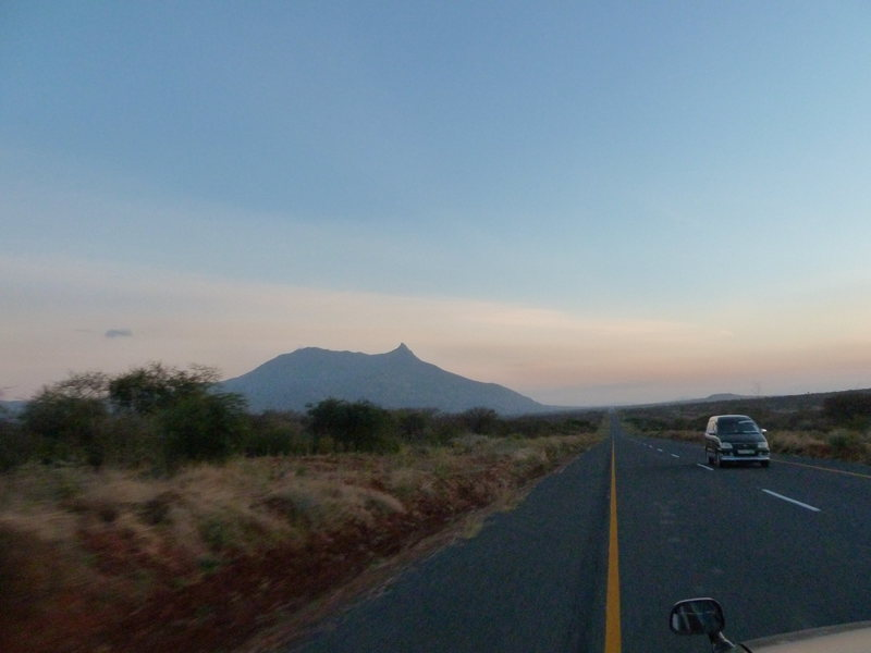 Rock Climbing Photo: Mt. Longido from a distance. Striking feature.
