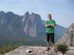 Rock Climbing Photo: me atop 'after 6' in yosemite