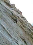 Rock Climbing Photo: clippin the 6th bolt on optical illusion (5.11) af...