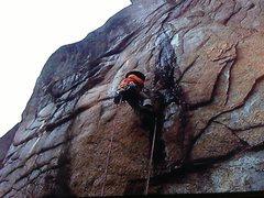 Rock Climbing Photo: Starting the rivet ladders