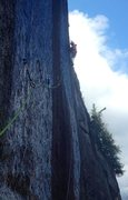 Rock Climbing Photo: The hook traverse in early spring