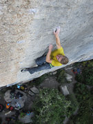 Rock Climbing Photo: The amazing and relentlessly crimpy finish to Maka...