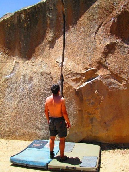 looking at the namesake problem on crack boulder.