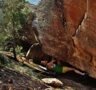 Rock Climbing Photo: Just pulling off the ground for the start of Pyrrh...