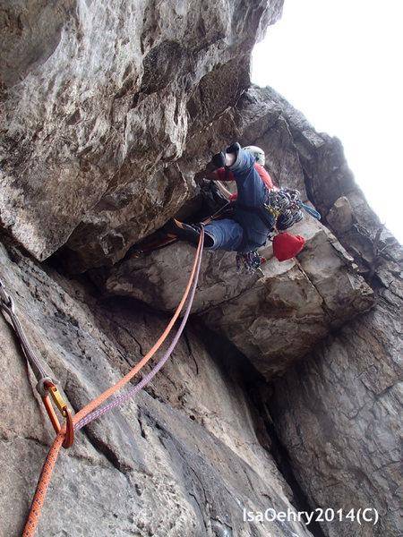 Rock Climbing Photo: Typical Seneca 5.7