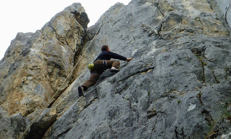 Rock Climbing Photo: About halfway up
