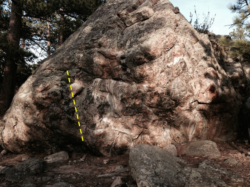 Rock Climbing Photo: The leftmost boulder problem on the Fellowship Bou...