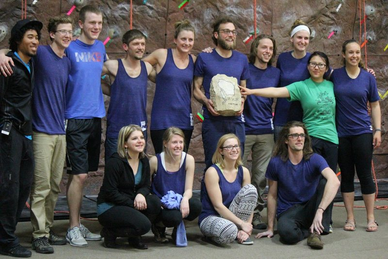 Rock Climbing Photo: Menombombs Climbing Team, 3rd WICS champs in a row
