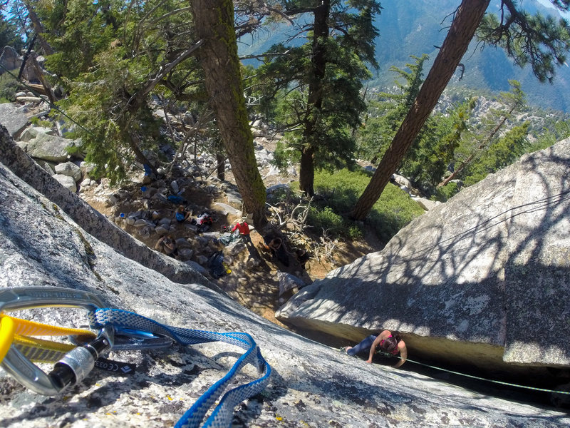 Rock Climbing Photo: Krysten enjoying Best of Both Worlds