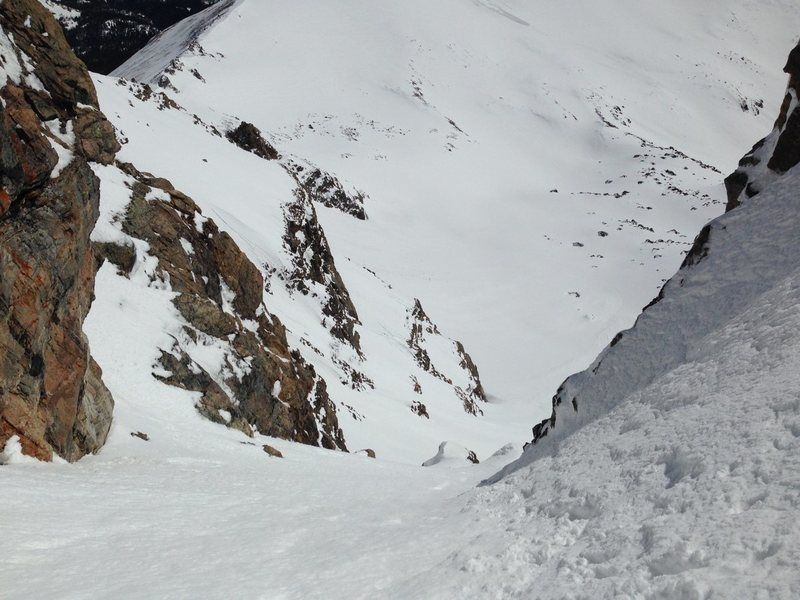 Rock Climbing Photo: Looking down Shooting Star Couloir.