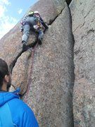 Rock Climbing Photo: The crack is a little harder with out stemming int...