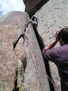 Rock Climbing Photo: Reptilian Wall and Awkward Teenage Dating.