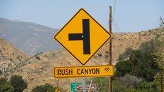 Rock Climbing Photo: Next left, Rush Canyon Road.