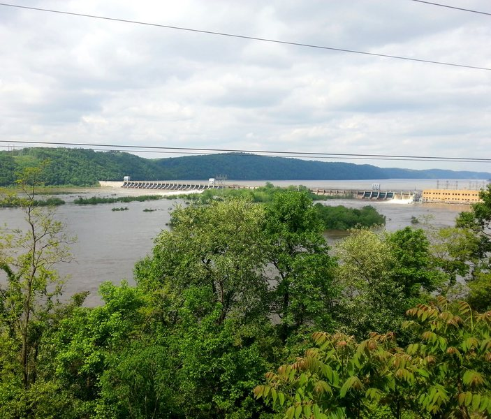 Nice views of the Susquehanna river from atop the routes.