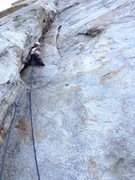 Rock Climbing Photo: On Central Pillar of Frenzy, 1st pitch