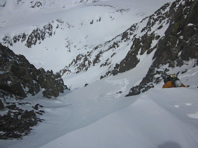 SW Couloir on Quandary.  We named it Horton's Hind Leg in memory of Horton the Quandary Dog