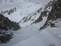 Rock Climbing Photo: SW Couloir on Quandary.  We named it Horton's Hind...