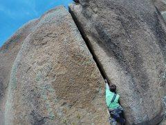 Rock Climbing Photo: Zach Keeney attempting to lead Jay's Solo.
