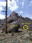 From The Freestander, you can see the Super Split Rock.