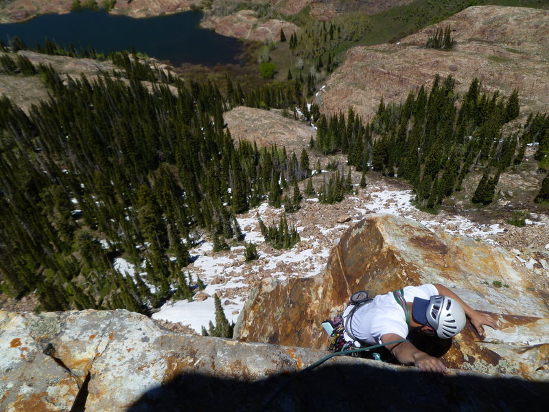 Rock Climbing Photo: Topping out a pitch... not sure which one  June 20...