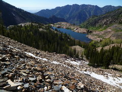 Rock Climbing Photo: The descent toward Lake Blanche. Hard to believe S...