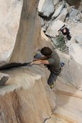 Rock Climbing Photo: starting the thin hands/hands crack. photo by Ryan...