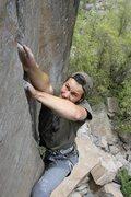 Rock Climbing Photo: fingery crux. photo by Ryan Zmierski