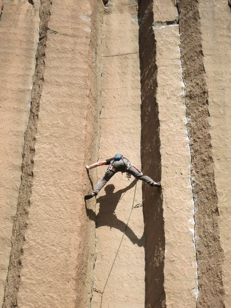 Rock Climbing Photo: Nathan Scherneck stemming high on The Space Betwee...