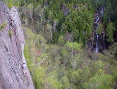 Rock Climbing Photo: Unknown climber on Blacksmith