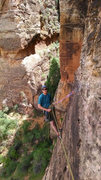 Rock Climbing Photo: Hanging belay on Ashtar Command, Ataxia Tower
