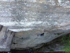 Rock Climbing Photo: apoplexy, heading into the crux