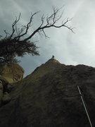Rock Climbing Photo: Julia and red rib, Red Rib and Julia