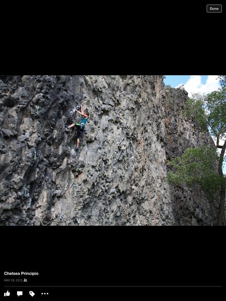 Rock Climbing Photo: Me climbing Drive By Trucker (5.12b) at South Park...