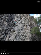 Rock Climbing Photo: Me climbing Drive By Trucker (5.12b) at South Park...