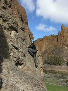 Rock Climbing Photo: kelsey top roping with an outward bound course spr...