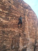 Rock Climbing Photo: Nick leading No Dogs Allowed, 05-17-2014. Approach...
