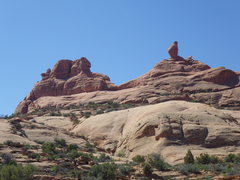 Rock Climbing Photo: a sunny look at it. start directly below the ham (...