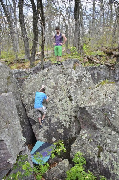 Rock Climbing Photo: Dobbe on Fern N Burn.