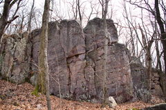 Rock Climbing Photo: Starts on the far right arete.
