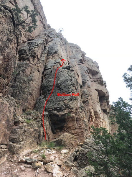Rock Climbing Photo: Route diagram: Transition Protocol, bottom half of...