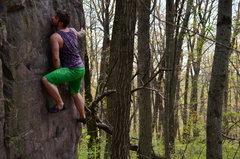 Rock Climbing Photo: Sam on Alexander the Moderate.