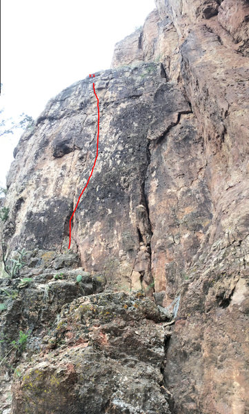 Rock Climbing Photo: Route diagram:  Eh, Nice Route.