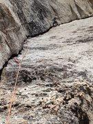 Rock Climbing Photo: Amy Ness leading P1