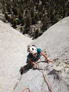 Rock Climbing Photo: Amy Ness finishing P2