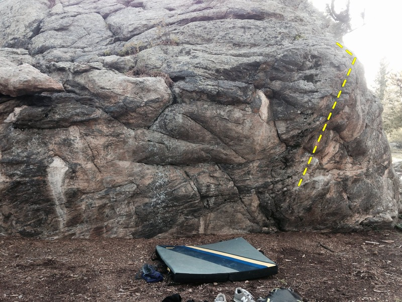 Rock Climbing Photo: The front of the Friendship Boulder, Guest Room is...