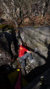 Rock Climbing Photo: Steve on a send.