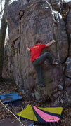 Rock Climbing Photo: Steve on the arete.