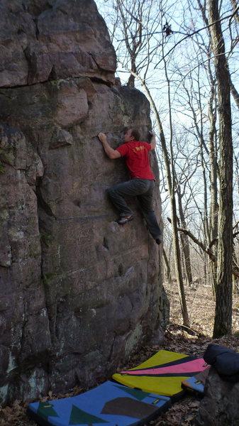 Rock Climbing Photo: Steve Schultz on a send.