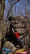 Rock Climbing Photo: On a send go.